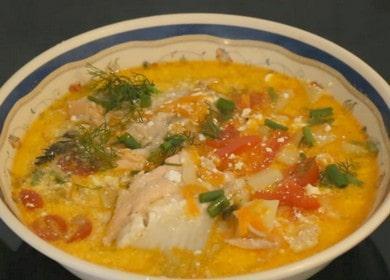 Сливочный суп из семги — простой рецепт