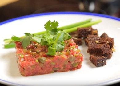 Тар-тар из говядины — маленькие секреты приготовления