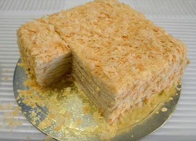 Готовим вкусный торт Наполеон из готового слоеного теста по рецепту с пошаговыми фото.