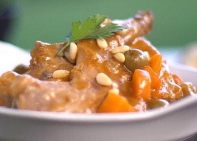Вкусный тушеный кролик с луком и морковью: готовим по рецепту с фото.