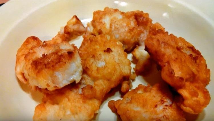 Как видите, филе рыбы в кляре можно пожарить в считанные минуты.