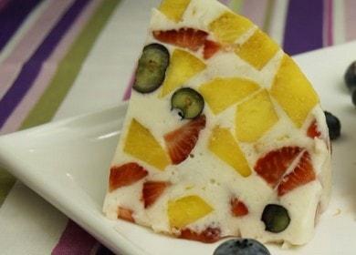 Фруктовый торт с желатином и сметаной без выпечки — проще простого