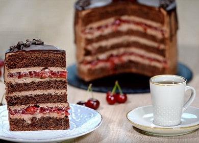 Шоколадный торт с вишней — невероятное объедение