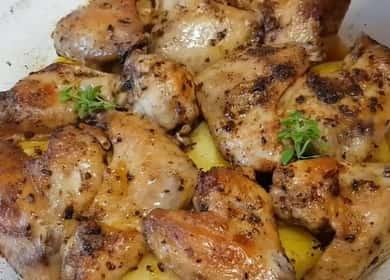 Сочные куриные крылышки с картошкой, запеченные в духовке
