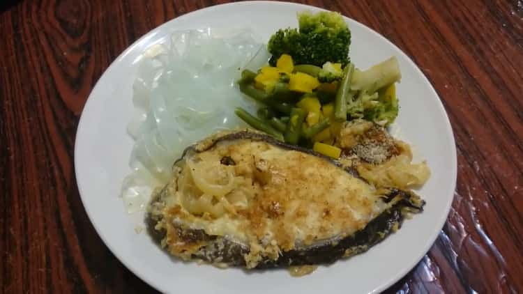 Стейк зубатки, запеченный в духовке - очень вкусный рецепт приготовления