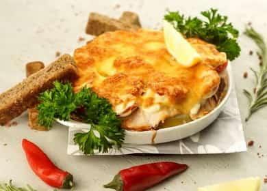 Рецепт приготовления кеты под «шубой» из овощей со сметаной с румяной сырной корочкой