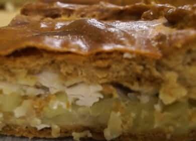 Курник с курицей и картошкой — очень сочный и вкусный рецепт