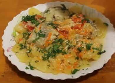 Вкусный минтай с овощами и картошкой — рецепт приготовления в мультиварке