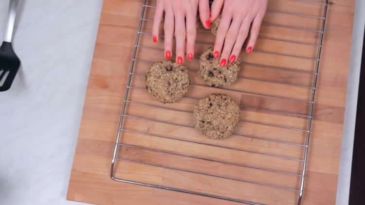 Вкусное овсяное печенье готово