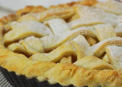 Яблочный пирог в духовке по пошаговому рецепту с фото