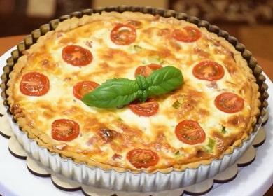 Французский открытый пирог Киш Лорен — он покорит вас вкусом и простотой приготовления