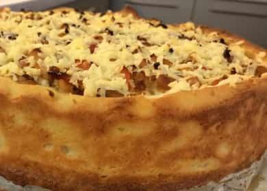 Бабушкин деревенский пирог — очень вкусный рецепт с овощами и картофельным тестом