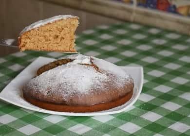 Пирог на кефире с вареньем - очень простая и вкусная выпечка