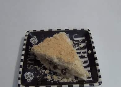 Насыпной пирог с творогом — легкое приготовление без теста