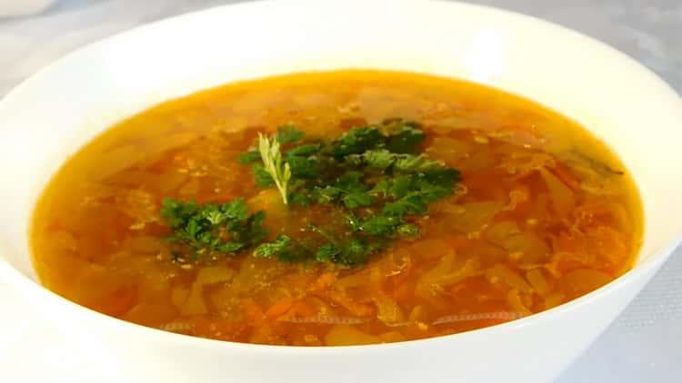 Постный гороховый суп - очень вкусный рецепт