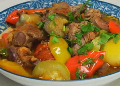 Овощное рагу с мясом — секреты узбекской кухни