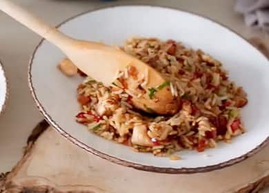 Рис по-тайски с овощами и курицей — простой и очень вкусный рецепт