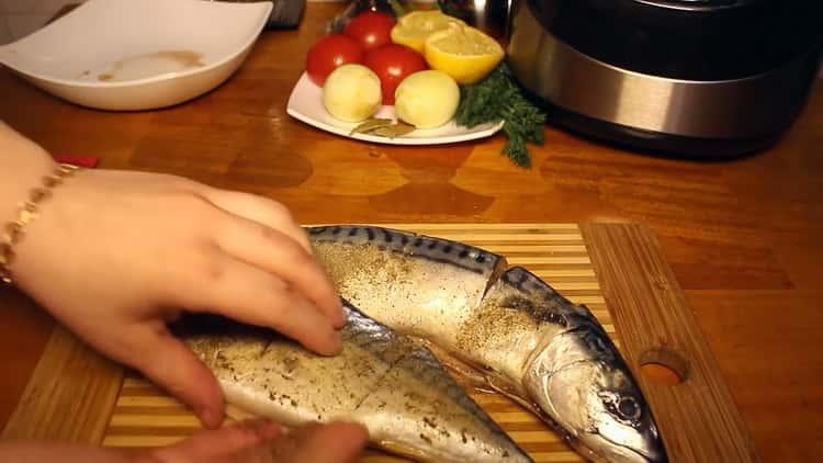 Для приготовления рыбы в мультиварке, подготовьте специи