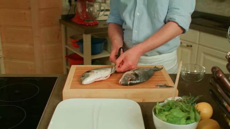 Для приготовления рыбы на гриле подготовьте ингредиенты