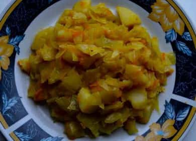 Тушеная капуста с картошкой — просто и вкусно