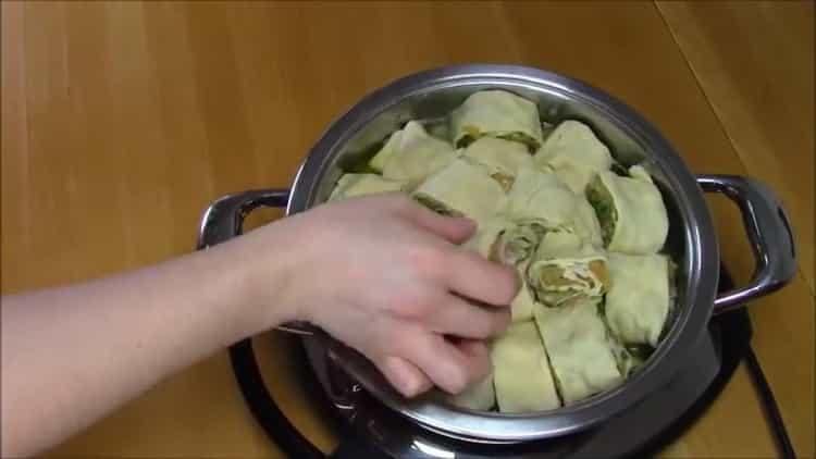 Для приготовления слоеного хинкали, подготовьте ингредиенты