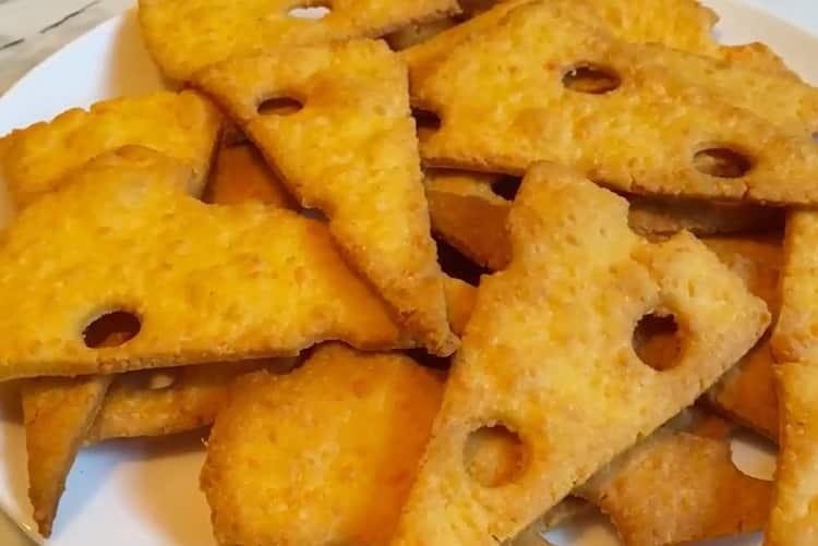 Сырное печенье - очень простой рецепт крекера