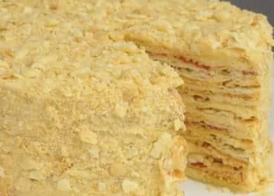 Очень вкусный слоеный торт — легкий пошаговый рецепт