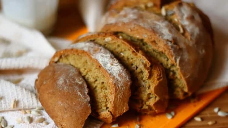хлеб на кефире без дрожжей готов