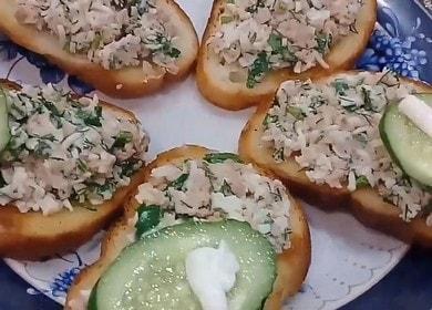 Готовим вкуснейшие бутерброды с печенью трески по пошаговому рецепту с фото.