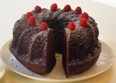 Очень вкусный и простой шоколадный кекс с какао