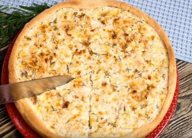 Киш с курицей и сыром — открытый, вкусный французский пирог из песочного теста