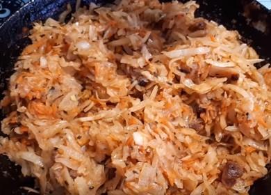 Два варианта начинки для вареников — капустная и картофельная