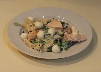 Паста с лососем в сливочном соусе — быстрый рецепт вкусной рыбой