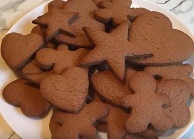 Детское шоколадное фигурное печенье — проще не бывает