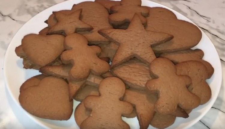 Печенье получается вкусным и ароматным.