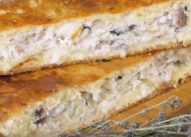 Готовим вкусный пирог со скумбрией по пошаговому рецепту с фото.