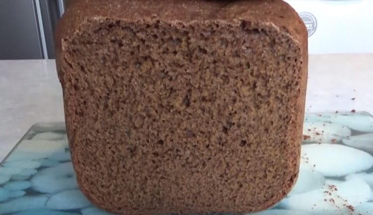 остывший хлеб можно нарезать.