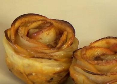 Вкусные и красивые «Розочки» из слоеного теста с яблоками