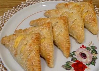 Слойки с сыром из готового слоеного теста — выпечка на скорую руку 🧀