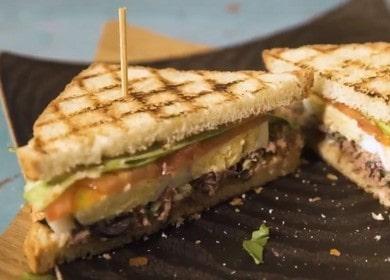 Готовим вкуснейший сэндвич с тунцом по пошаговому рецепту с фото.