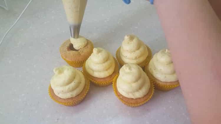 Банановые капкейки по пошаговому рецепту с фото
