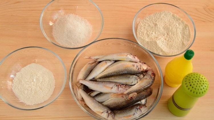 Для приготовления барабульки подготовьте ингредиенты