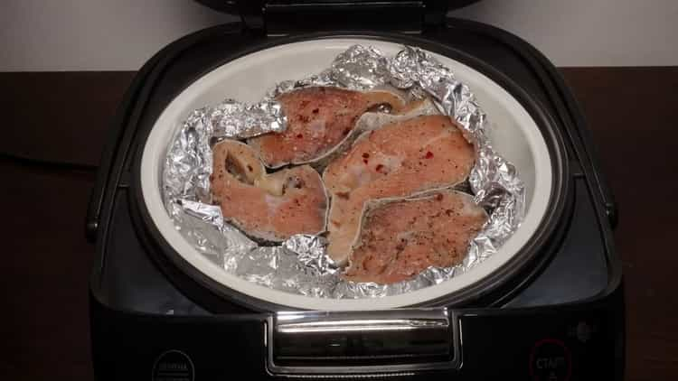 Для приготовления горбуши на пару, подготовьте посуду