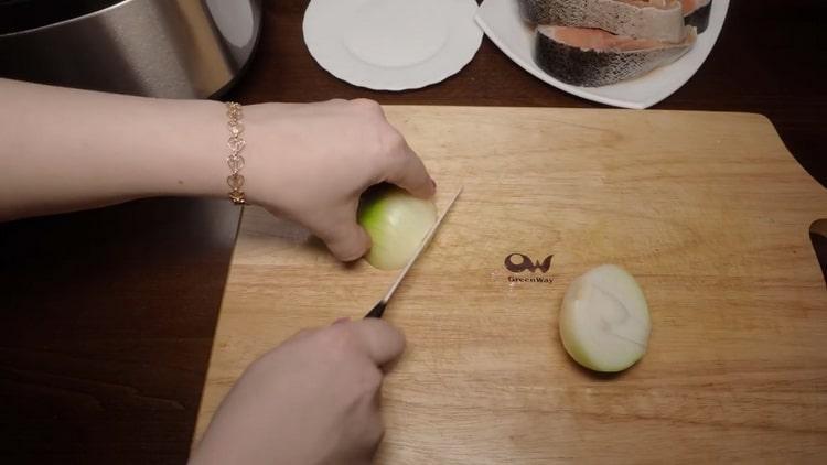 Для приготовления горбуши на пару, подготовьте ингредиенты