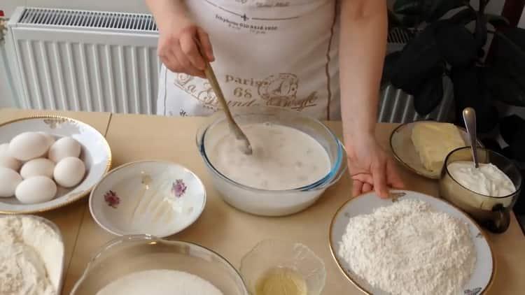 Для приготовления кулича подготовьте ингредиенты