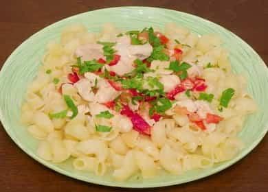 Вкусные макароны с курицей в сливочном соусе — готовим в мультиварке 🍝