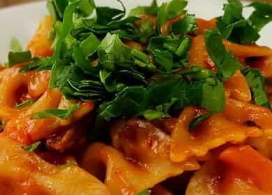Макароны с мясом на сковороде — просто и очень вкусно 🍝
