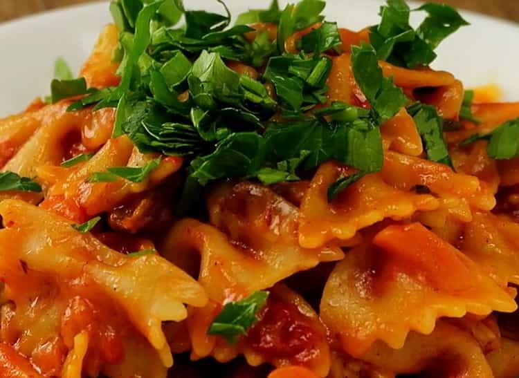 Макароны с мясом на сковороде по пошаговому рецепту с фото