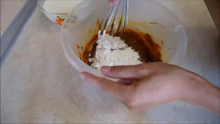 Для приготовления начинки, подготовьте ингредиенты