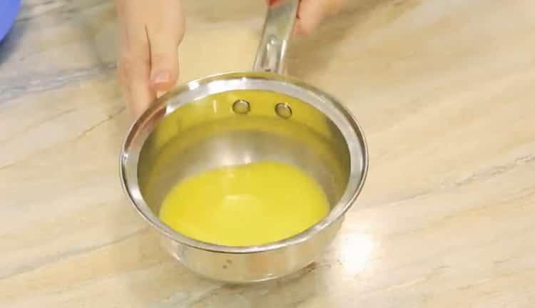Для приготовления самсы растопите масло